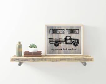 Farmers Market Print, farmhouse, farmhouse style, 8x10 printable, rustic