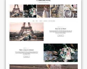 LIMITED! Parisienne | Responsive Minimalist Premade Blogger Template
