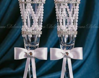lUXURY Wedding glasses  /  РОСКОШНЫЕ Свадебные бокалы