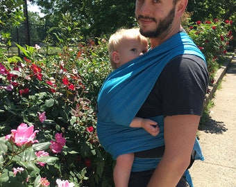 xoxo buckle wrap baby carrier - CYANtific (made with eco2 cotton)
