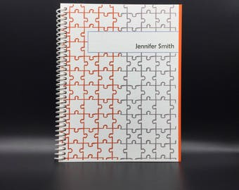 PUZZLED Flex-Hardcover Notebook / Journal 200 pages  Customize-able