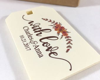 Thank You Wedding Tags, Rustic Wedding Favors, Welcome Bag Tags, Wedding Gift Tags, Wedding Favor Tags, Wedding Thank You Favors, Set of 12