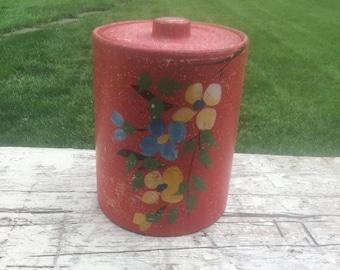 Vintage Hand Painted Stoneware Cookie Jar- Ransberg
