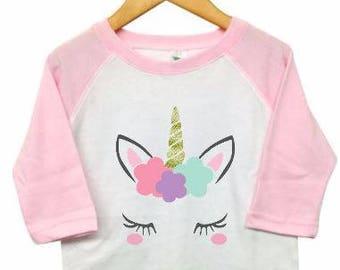 Unicorn shirt,unicorn kid shirt,unicorn girl shirt,sparkle unicorn shirt,unicorn raglan,unicorn tshirt,unicorn birthday,unicorn party