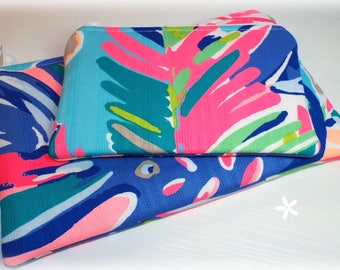 Zipper Bag, Zipper Pouch, Clutch Bag, Pencil Pouch, Lilly Pulitzer Fabric, Exotic Garden, Coin Purse, Gadget Bag, Gift for Her, Preppy Pouch