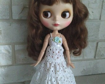 Blythe clothes White long sundress for Blythe