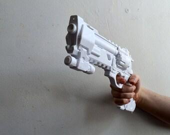McCree Blackwatch Revolver Gun from Overwatch 3D Printed Cosplay Prop