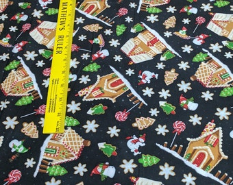 A Gingerbread Christmas-Gingerbread Houses Cotton Fabric from RJR Fabrics