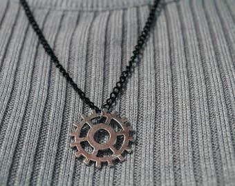 Heda/Commander Lexa Headpiece - The 100 Headpiece Necklace - Black Chain