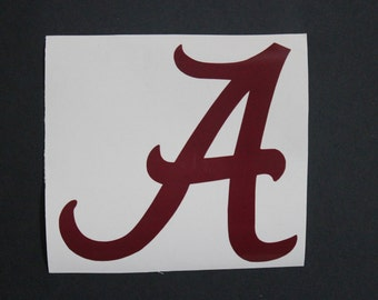 Alabama A - Crimson Tide Decal