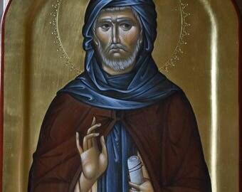 St. Ephraim the Syrian  Byzantine orthodox icon egg tempera