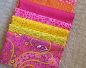 Alison Glass Warm Diving Board Bundle 7 prints Pink, Orange, Yellow Fat Quarters, Fat Eighths or yardage