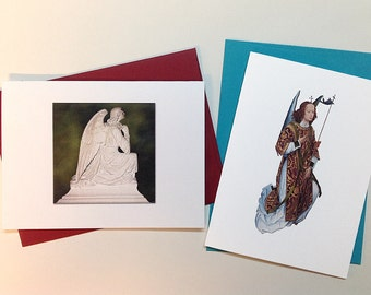 Angel Series Greeting / Note cards with envelopes – set of 6