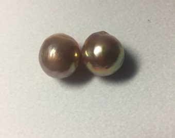 12-13mm baroque pearl rainbows color earring