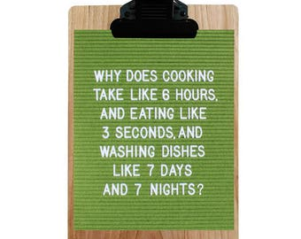 Funny Poster: Why does cooking...