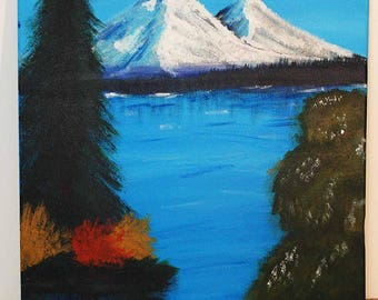 Mountain Scene Acrylic Canvas Painting