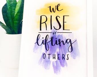 Hurricane Harvey, Hurricane Irma, Red Cross Donation, support Houston, Texas Strong, Florida, We rise by lifting others print