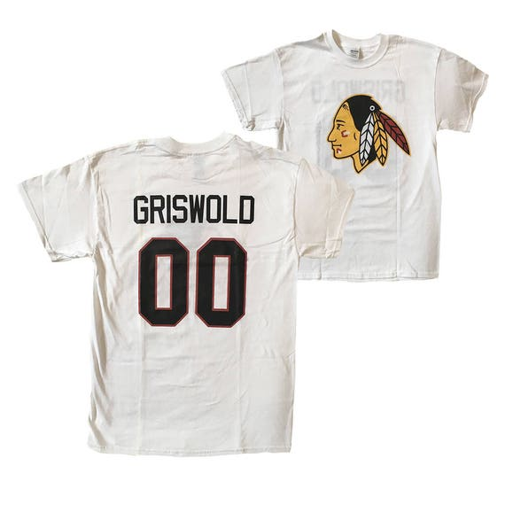 Clark Griswold T-shirt 00 Jersey Shirt As Worn In Christmas Vacation  Christmas Vacation Clark Griswold 00 Chicago Blackhawks ... f09ab8696