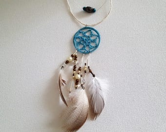 Dream Catcher Necklace with Turquoise Choker