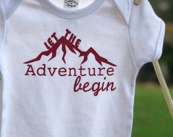 Let The Adventure Begin Onesie Infant Creeper Romper