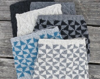 HIRA Handknitted Wool Neck Scarf in 6 Colours