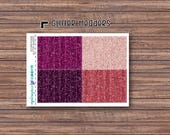 Autumn Rouge Glitter Header Stickers | ECLP | Happy Planner | Recollections Planner