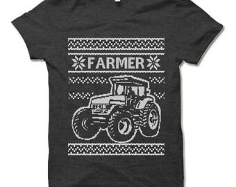Farmer Christmas T Shirt. Farmer Christmas Gift.