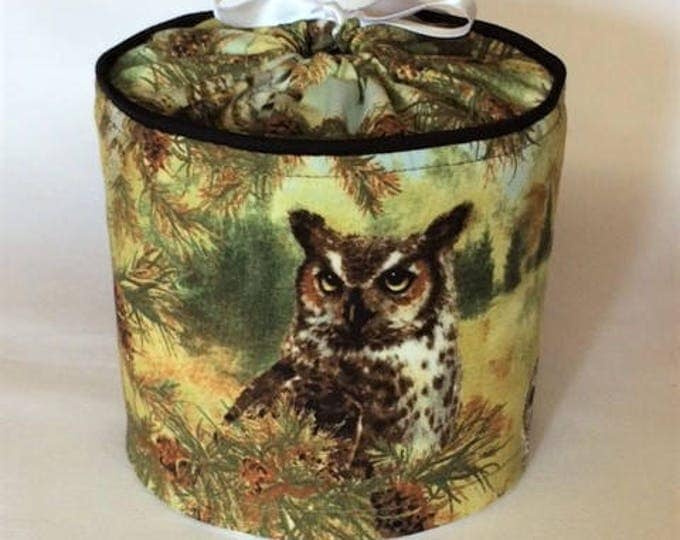 Toilet Paper Cover for a Rustic Bathroom, Owl Decor