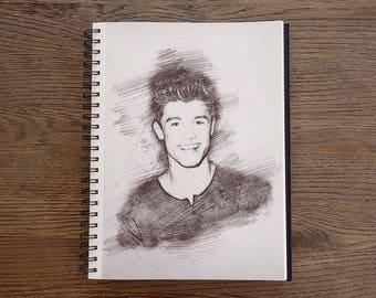 Shawn Mendes #3 **50% OFF**// Sketch Art Print - Shawn Mendes Print, Illustration, Drawing, Sketch : Listing #3