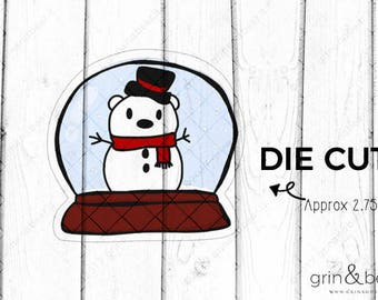 Snowglobe Barry! - Barry the Bear Diecut
