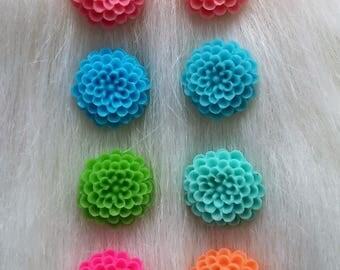 dahlia flower post earrings