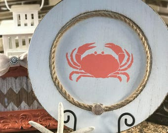 It's getting Crabby!  Decorative Crab Charger Plate