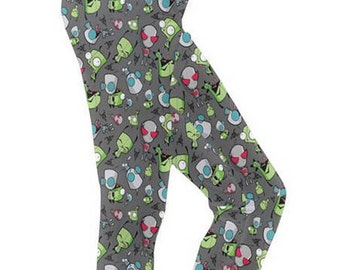 Gir leggings - Invader Zim leggins Robot Dog leggings Irken leggings Cartoon leggings Plus Size leggings Comicon leggings Invader leggings