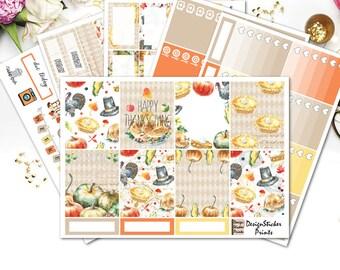 Thanksgiving Planner Stickers for Erin Condren LifeplannerPlanner /November Weekly kit/Thanksgiving Stickers/November Monthly Sticker