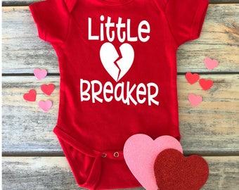 Little Heart Breaker Bodysuit- Valentines Baby- Heart Breaker Baby- Little Heart Breaker- Valentines Day Baby Boy- My First Valentine's Day-