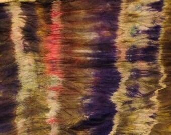 luxurious handpainted silk scarf, his or hers, brown, purple, beige, wearableart, unique, original, bluejohnstone Agte style
