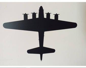 "B-17 Flying Fortress AIRPLANE WWII Warbird 5"" Vinyl Car Laptop Decal Sticker"