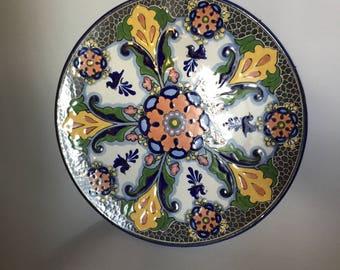 """17"""" Puebla Talavera Plate"""