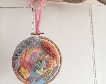 Colourful Embroidey and Painting Hoop