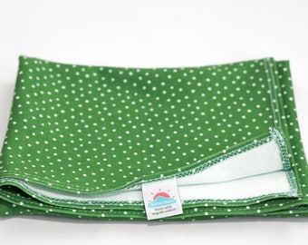 medium | green polka dot | organic cotton t-shirt hair towel