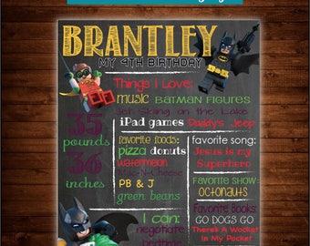 Lego Batman Chalkboard Sign