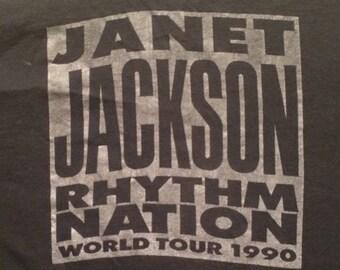 Vintage Janet Jackson  Tour T Shirt 1990
