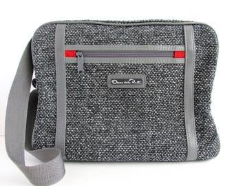 Vintage Oscar De La Renta Tweed Carry On, Laptop Bag, Carryall