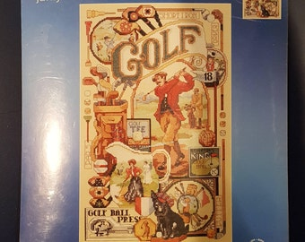 Janlynn Golf Nostalgia Cross Stitch Kit
