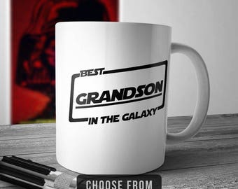Best Grandson In The Galaxy, Grandson Mug, Grandson Coffee Cup, Gift for Grandson, Funny Mug Gift