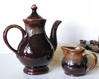 Vintage, Dripware, Tea Pot, Creamer, Set, Drip, Glaze, Pottery, Drinkware, Tea Time ღ