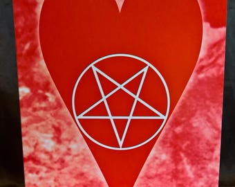 Pentagram Heart - Valentine Card