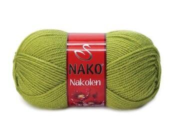 NAKO NAKOLEN Blend acrylic wool color choice hand knit yarn Premium acrylic wool nako yarn wool yarn spring yarn winter yarn soft yarn