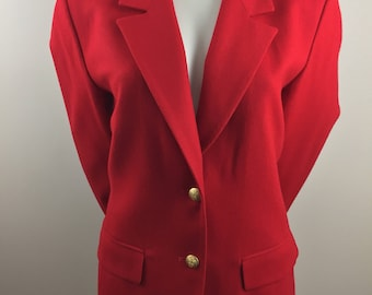 Vintage Pendleton 100% Virgin Wool Red Blazer/Size 12