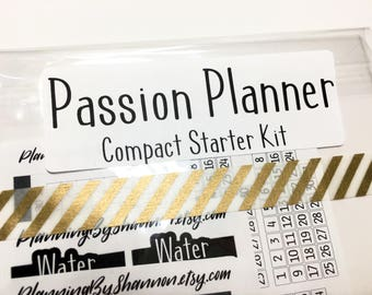 Passion Planner Sticker Starter Kit for Classic and Compact, great for christmas and holiday gifts to go with a brand new Passion Planner!